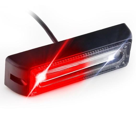Estrobo Led Óptica 3d Alto Poder Xl Rojo Blanco 18w