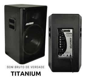 Kit Caixa De Som Ativa+passiva 15 600w Rms Titanium