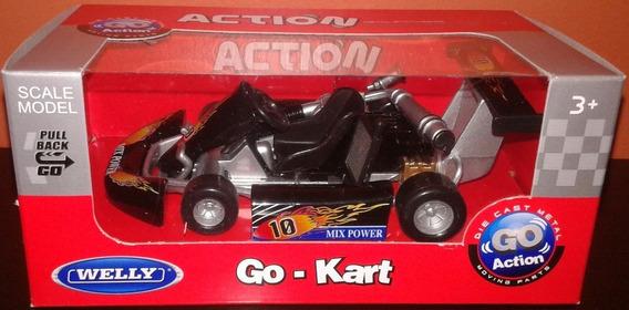Karting Welly Go Kart Replica Colecciona Esc 1/16 Metal F