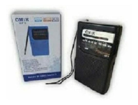Rádio Portátil Am/fm Cmik Promoção + 2 Pilhas
