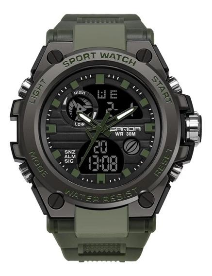 Relógio Esportivo Militar Sanda(verde)