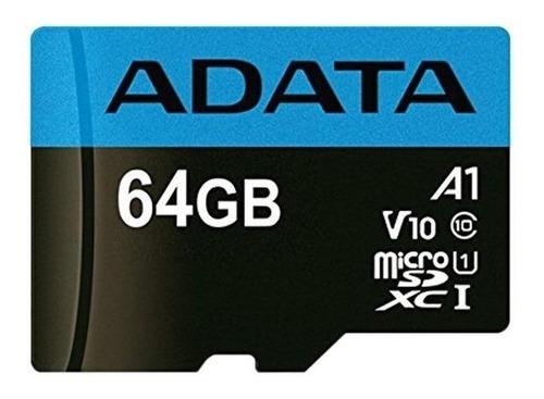 Tarjeta de memoria Adata AUSDX64GUICL10A1-RA1  Premier con adaptador SD 64GB