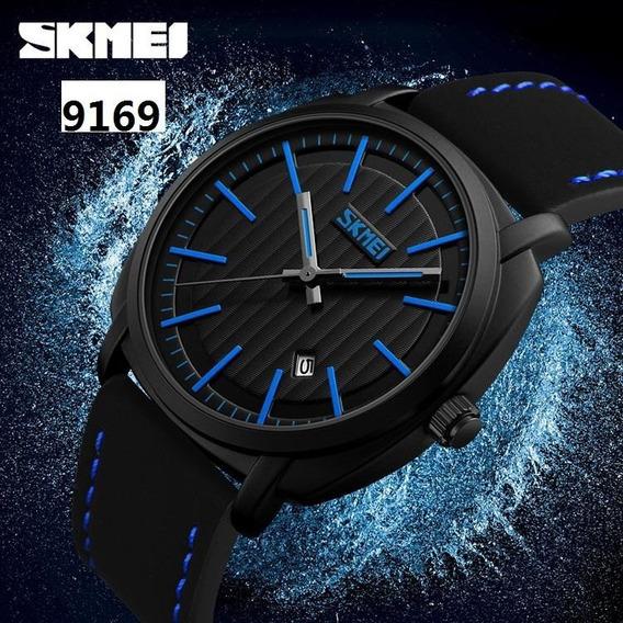 Kit 3 Relógio Skmei 9169 Couro Aprova D