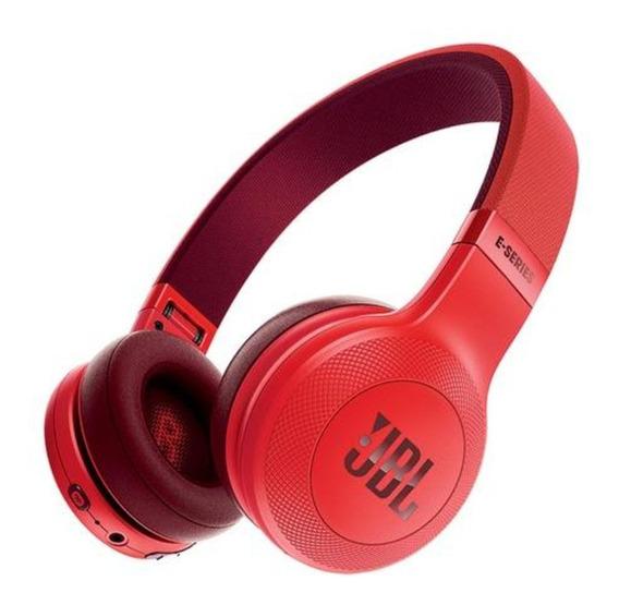 Fone De Ouvido Sem Fio Jbl E45bt Vermelho Bluetooth Original