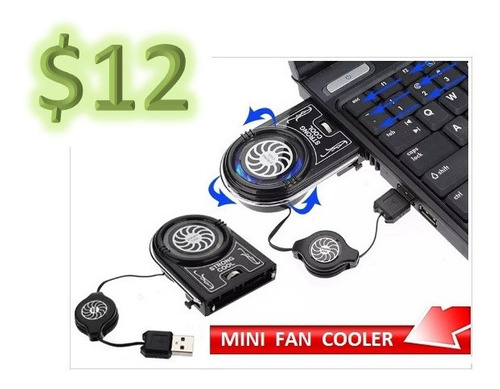 Mini Fan Cooler Usb Para Laptops Extractor Enfriador