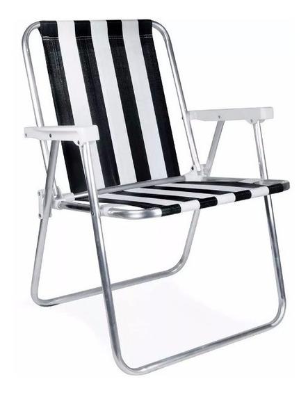 Kit Com 3 Cadeira De Alumínio De Praia Reforçada Mor