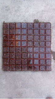 Pastelón Granítico Rojo 40x40 Cm Doble. Blangino