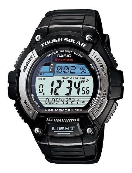 Relogio Casio W-s220-1 Aço Solar Crono Timer 5alarm Nf Ws220
