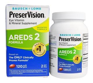 Preservision Areds 2 Formula Bausch + Lomb 120 Cáps Lacrado