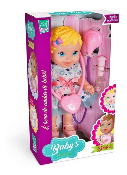 Boneca Babys Collection Dodói Brincando De Médica Loira
