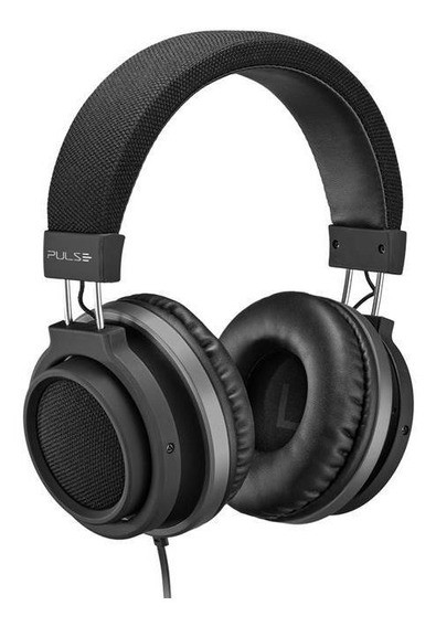Fone De Ouvido Headphone Auxiliar P2 Preto Large Ph226 Pulse