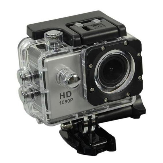 Câmera Esportiva Full Hd De 12mp Tela 2 Com Wi Fi - Prata