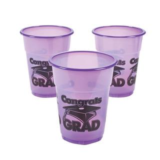Fun Express Copas De Plástico Púrpura Felicidades Grado