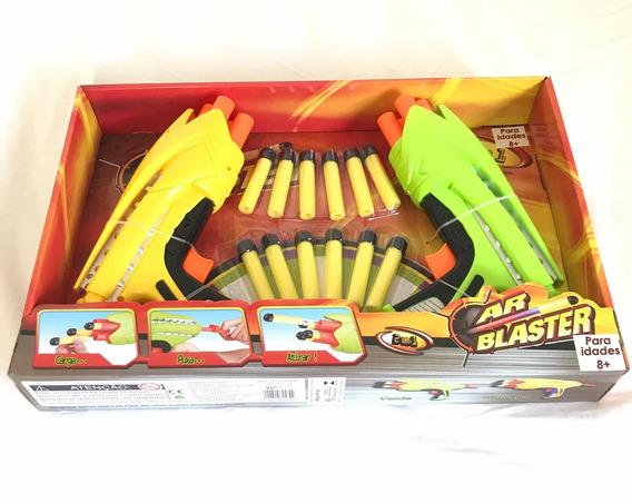 Lançador De Dardos Ar Blaster Com 2 Unidades E 12 Dardos