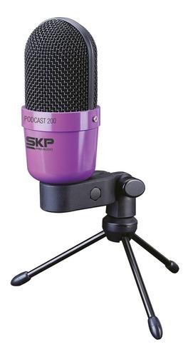 Micrófono Dinámico Estudio Podcast-200 Skp - Envío Gratis