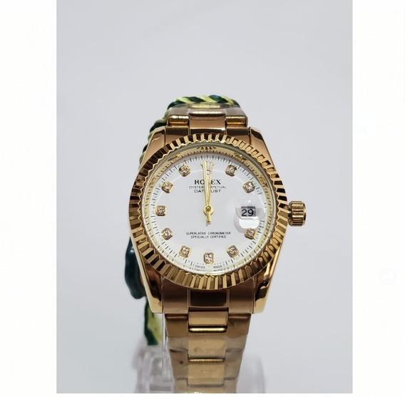 Relógio Feminino Golden White