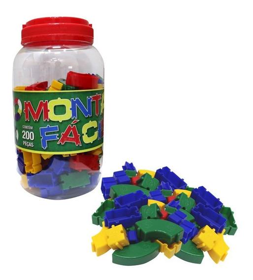 Blocos De Montar 200 Pçs Brinquedo Educativo De Encaixar