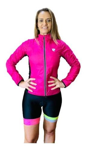 Imagem 1 de 4 de Corta Vento Ciclismo Feminino Pink Lynce