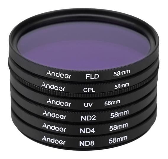 Andoer 58mm Uv + Cpl + Fld + Nd(nd2 Nd4 Nd8) Fotografia