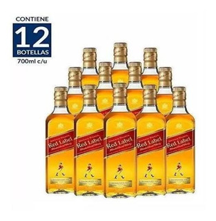 Whisky Johnnie Walker Etiqueta Roja De 700ml. Cj 12pzas.
