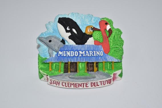 Imán Orca Y Delfín De Cerámica Mundo Marino
