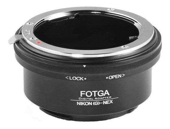 Anel Adaptador Lente Nikon G Sony Nex Alfa Contr. Abertura