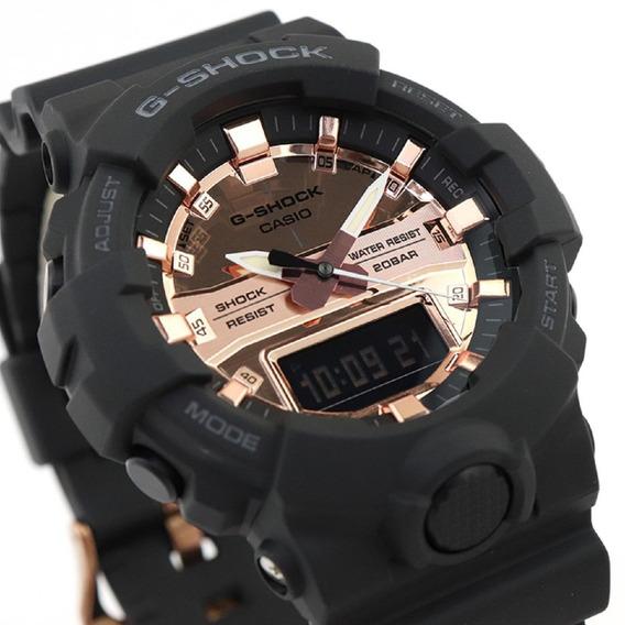Relógio Casio G-shock Masculino Preto Rose Ga-100mmc-1adr
