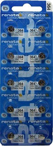 10 Pack 364 Renata 0% Mercurio Electronico Pilas De Oxido De