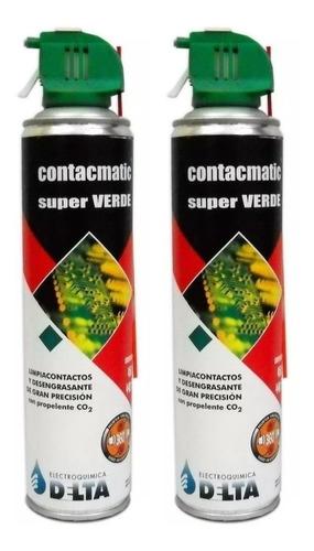 2 X Aerosol Limpia Contactos Contacmatic Super Verde