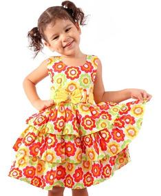 Kit 4 Vestido Infantil Menina Festa Casual Junina Atacado
