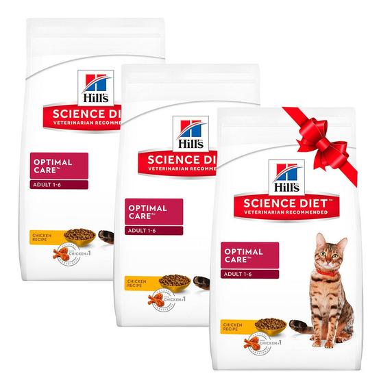 3 X 2 Alimento Para Gato Adulto 1-6 Bolsa 3 Kg Hill