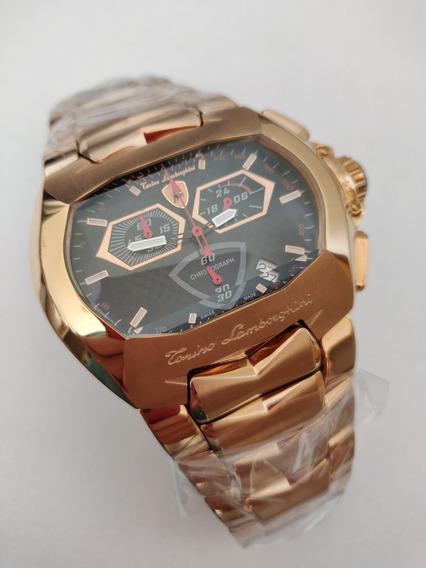Relógio Lamborghini Rose, Cronógrafo Preto!