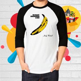 Playera De The Velvet Underground Banana Manga 3/4