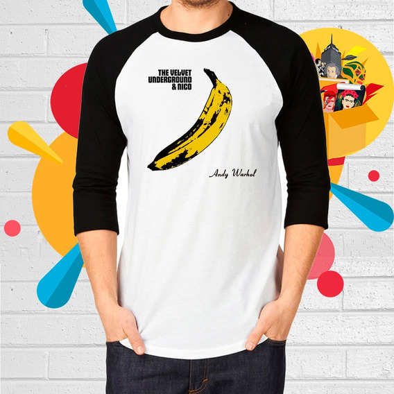 Playera De The Velvet Underground Banana Manga 3/4