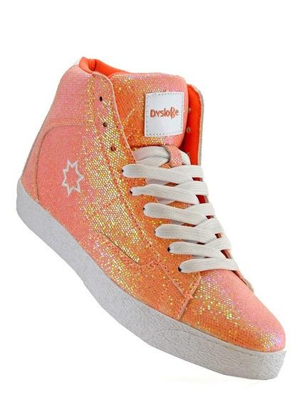 Zapatillas Botas Glitter Moda Niñas Dama 4113-98 Luminares