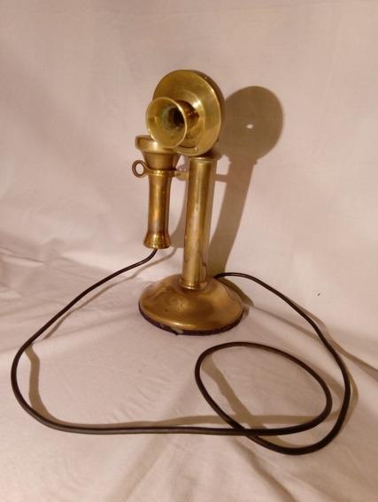 Teléfono Antiguo Bronce Western Electric Company Decoración
