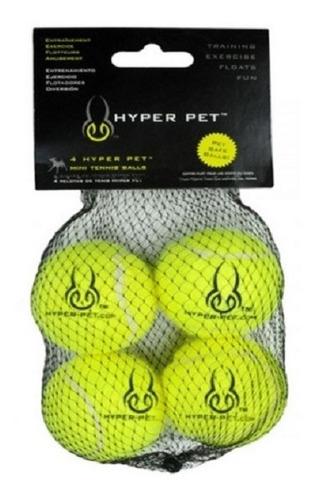 Pelotas X4 Verdes Mediana Hyper Pet