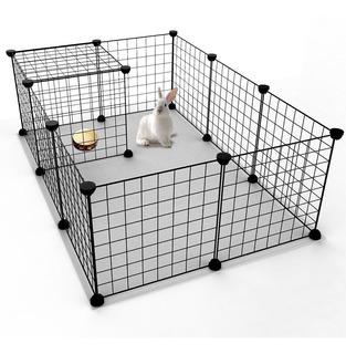 Jaula Corral 12 Paneles De Metal Para Mascotas Conejos Jyyg