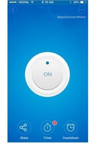 Imagen 1 de 3 de Interruptor De Pared Touch Wifi De 3 Contactos