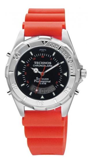 Relógio Technos Masculino Skydiver T20562/8r Vermelho