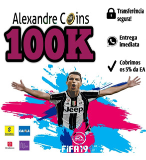 Fifa 19 Coins Ps4 100k Ultimate Team - Envio Imediato
