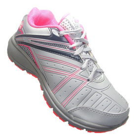 Tênis Adulto Feminino Lindi Cinza/pink 220 Worth P/caminhada