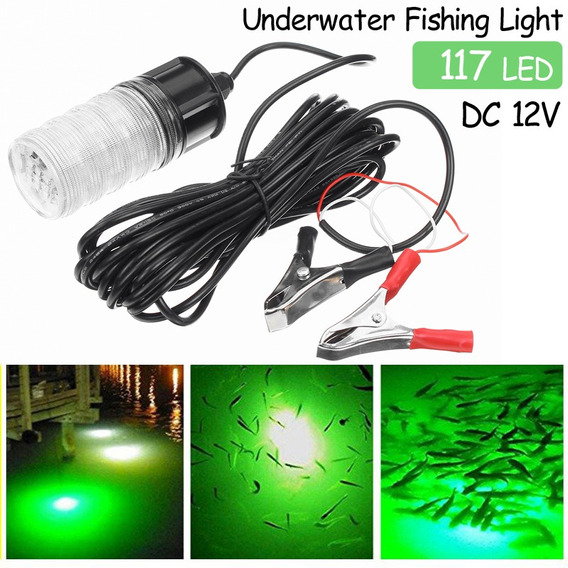 Luz de se?uelo de Pesca LED Luz de Pesca Nocturna Sumergible Gota Profunda Se?uelo subacu/ático Cebo L/ámpara de Pescado-Greeen