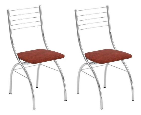Conjunto Com 2 Cadeiras Fiumicino Tabaco