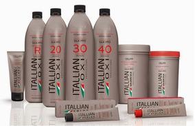 Kit Para Loiras Itallian Color 1 Po + 1 Oxi + 2 Cores 989