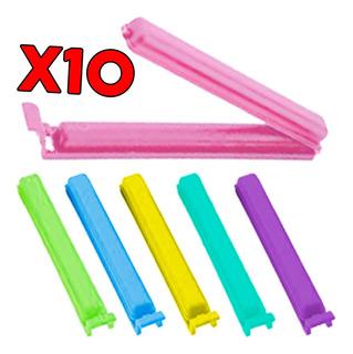 Cierra Bolsa Kit X10 Broche Hermetico Clip Tipo Ziploc Cuota