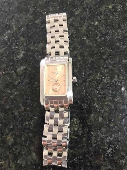 Relógio Longines Dolcevita Original Com Fundo Rosa