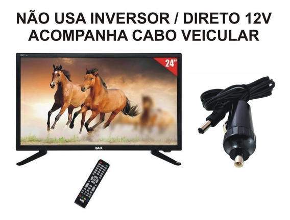 Tv 24 Pol 12 Volts Monitor Pc Vga Slim Digital Usb Hdmi 12 V