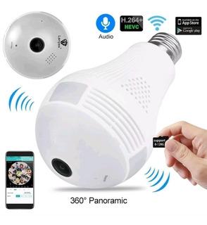 Foco Led Cámara Espia Ip 360° Wifi Monitoreo Celuar