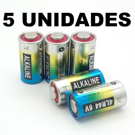 5 Bateria Pilha 4lr44 6v Coleira Antilatido 476a A544x Px28a